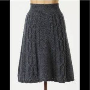 Anthropologie Moth Flowing Cables Sweater Skirt L